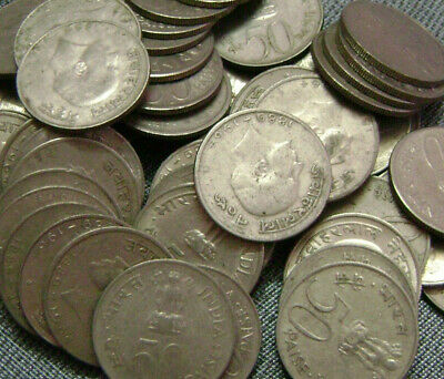 INDIA 6 PIECE UNCIRCULATED 1950/'S /& 60/'S COIN SET 1 TO 50 PAISE