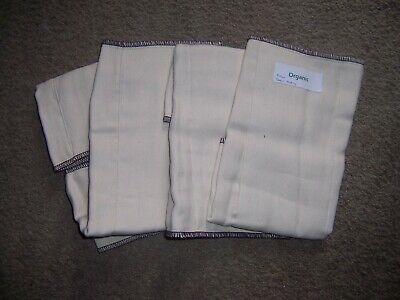 OSOCoZY 4 Organic prefold infant cloth diaper lot arpox 12 in by 11 inch