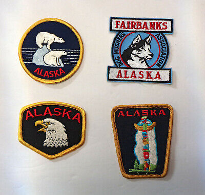 4 Embroidered Alaska Patches!
