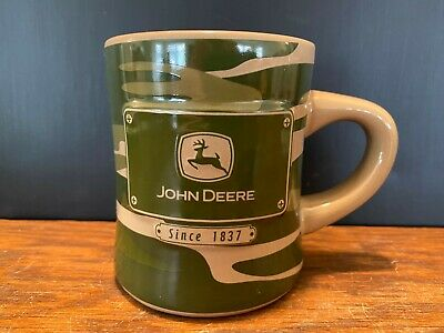 John Deere Since 1837 Green Camo Coffee Cup Mug by Russ Berrie