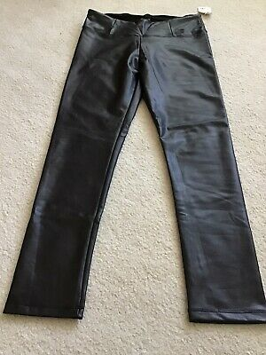 NWT Shinestar Womens Juniors Black Faux Leather Leggings Pants  XL