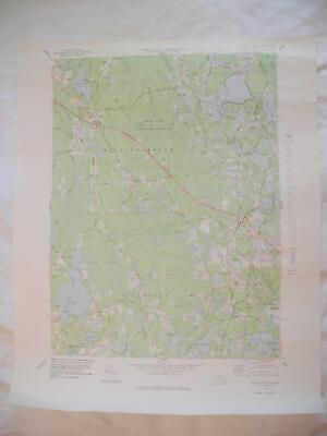 "1977 Snipatuit Pond, Mass. Massachusetts 22"" X 27"" USGS Topographic Topo Map"