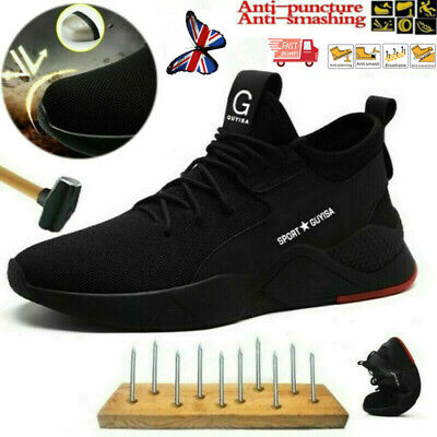 Lightweight Men Safety Shoes Work Trainers Toe Steel Cap Hiking Ankle True Boots