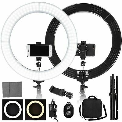 """19"""" LED SMD Ring Light Kit with Stand Dimmable 5500K for Makeup Phone Camera"""