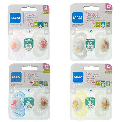MAM Original - Soother Twin Pack - 12m+  (CHOICE OF DESIGN - BOYS/GIRLS) (A189)