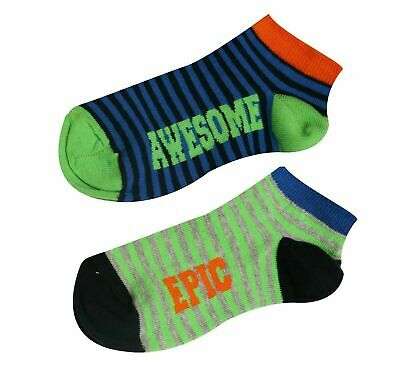 Kids Boys Girls Children Trainer Socks Cotton School Epic Awesome Ankle Liner