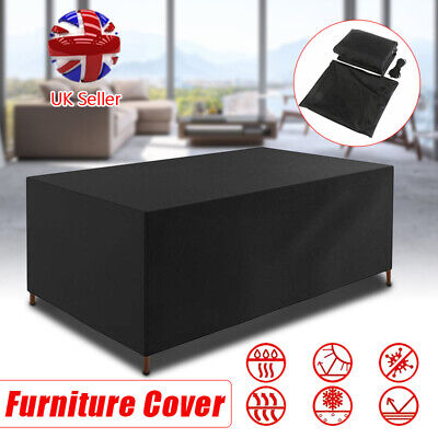 Waterproof Garden Furniture Set Cover For Outdoor Patio Rattan Table Cube W/ Bag