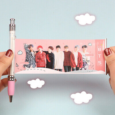 KPOP BTS Ink Gel Pen Bangtan Boys SUGA JIMIN JUNGKOOK Photo Ball Point Pens Gift