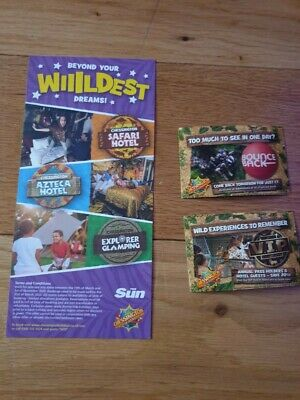 2 Chessington world of adventure tickets 26th June 2020 adult or child