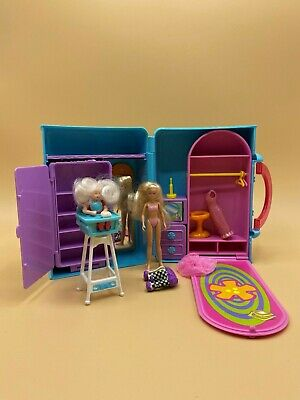 Mattel Fashion Polly Pocket doll & closet with accessories baby 2000