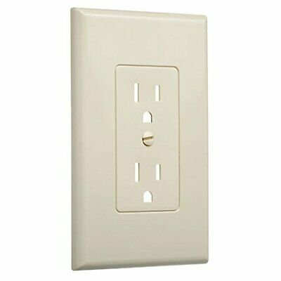 10 Pack- TAYMAC Masque Decorator - 1 Gang Wall Plate Cover Outlet - Ivory Duplex