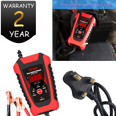 6 Amp 6 Volt 12V Automatic Intelligent 6V Battery Charger Trickle Fast Car Van