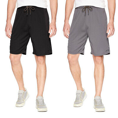 Copper Fit Men's Big And Tall Athletic Gym Shorts Elastic Stretch Waist Pockets