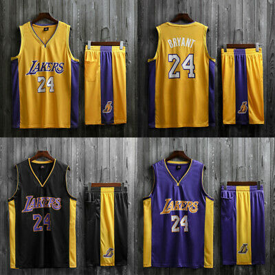 #24 Kobe Bryant Los Angeles Lakers Men Youth Child Kids Jersey Shorts Pants Kit