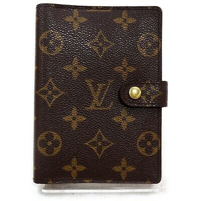 Authentic Louis Vuitton Diary Cover R20005 Agenda PM Browns Monogram 1207379