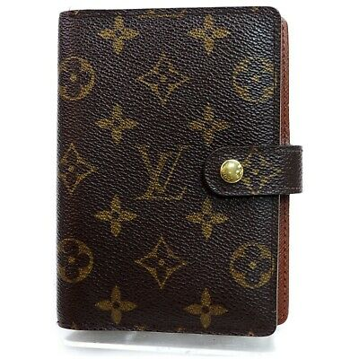 Authentic Louis Vuitton Diary Cover R20005 Agenda PM Browns Monogram 906201