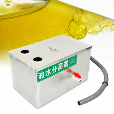 6.6L Commercial Grease Oil Trap Interceptor Oil Water Separator Stainless Steel