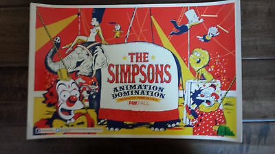 2013 Sdcc Comic Con Exclusive Fox Poster The Simpsons Circus Theme Lisa Maggie