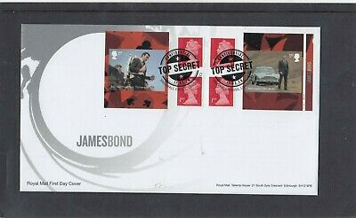 GB 2020 James Bond retail stamp booklet cyl W1 Royal Mail FDC Vauxhall Cross pmk