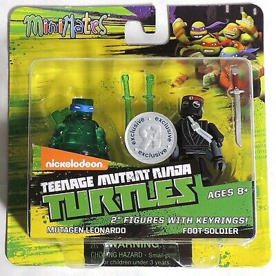 Teenage Mutant Ninja Turtles Minimates TRU Wav 1 Mutagen Leonardo /& Foot Soldier