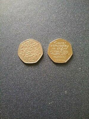 2 x 50p New Brexit Coin 2020 & EU 25th Anniv 1998 Collectable Coin Hunt