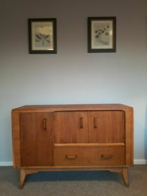 G Plan Brandon E Gomme natural oak Dresser Sideboard Drinks Cabinet Mid Century