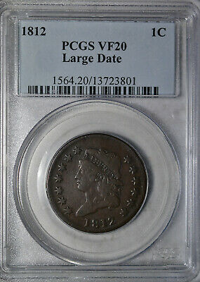 1812 Classic Head large cent, PCGS VF20