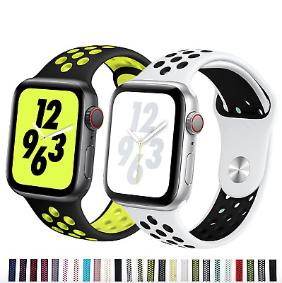 Silicone strap for Apple Watch 44 mm/40mm iWatch band 42mm/38mm Sport Breathable