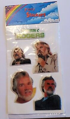 Vintage Kenny Roger's Puffy Stickers