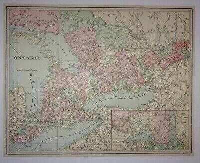 1897 Map of Ontario