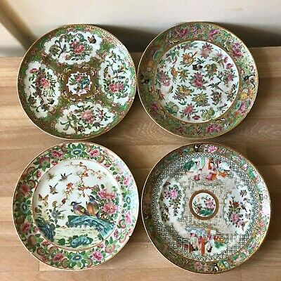 Lovely Group of 4 Antique Chinese Plates