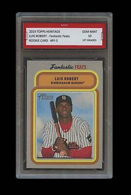 Luis Robert 2019 Topps Heritage 1St Graded 10 Rookie Card Rc Chicago White Sox