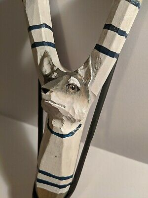 Wolf's Head Wood Carved Slingshot
