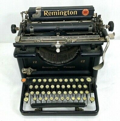 Antique Remington Paragon 12 Typewriter