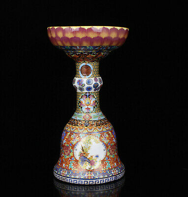 China Collectible Handwork Carving Handwork Painting Pastel Porcelain Vases