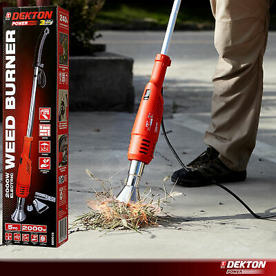 Dekton 2000W Electric Weed Burner Killer Wand Hot Air Blaster Torch 650°c No Gas
