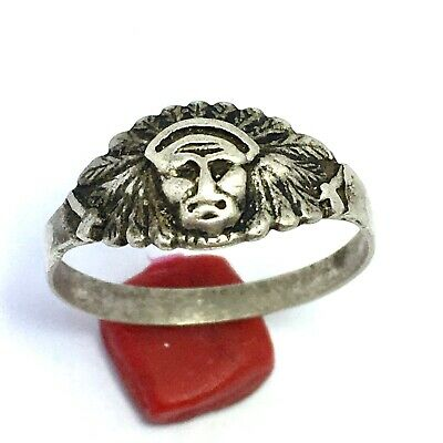 ANCIENT Rare Roman RING SILVER Legionary Old Extremely Authentic Artifact