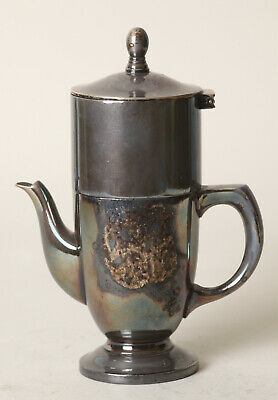 Narrow Two-Part Metal Can with Sieve Tea Pot Samovar, ca17cm (144857-12)