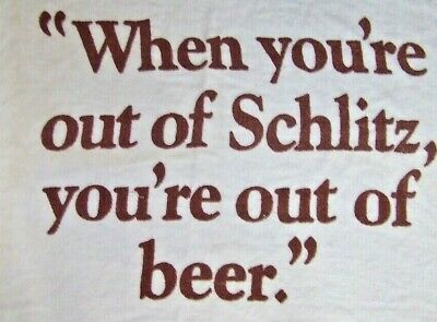 """Vintage large Schlitz Beer Towel 33"""" x 54"""" MADE IN USA CANNON ALL COTTON"""