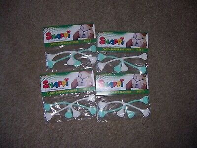 Snappi new size 2 cloth diaper fastners lot