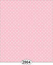 Miniature Dollhouse Wallpaper 1:12 Scale - Cottage Chic Dot Pink 2 - 2864