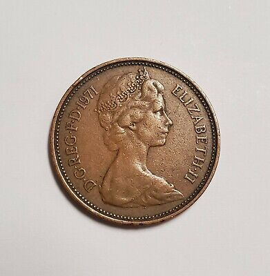 1971 Great Britain NEW PENCE 2p Coin