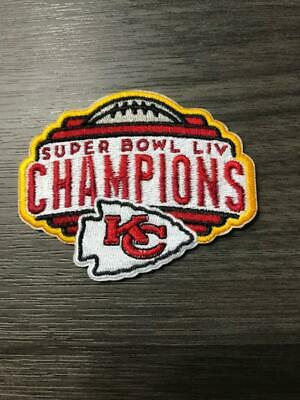 Kansas City Chiefs Super Bowl 54 LIV Champions Patch Iron/Sew On NFLNew
