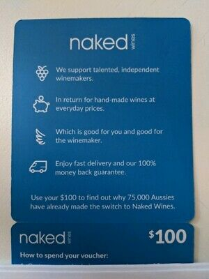 naked wines $100 Wine Voucher [Brand-new Unsed code]