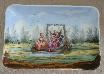 antique 1870s CREIL & MONTEREAU LM & C France handpainted DISPLAY BOWL