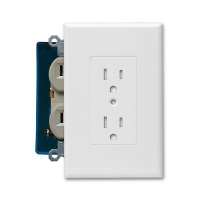 5 Pack - TAYMAC Masque Decorator- 1 Gang Wall Plate Cover Outlet - White Duplex
