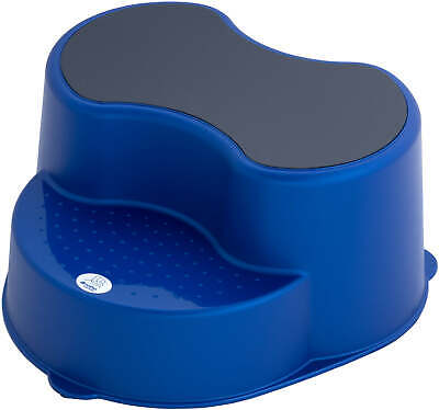 Rotho Top Children Stool 2 Stage Step Stool - Royal Blue Pearl New