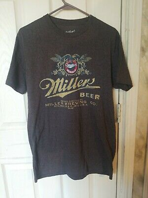 MILLER BREWING COMPANY Milwaukee Official Beer T-Shirt Size XL Vintage Design