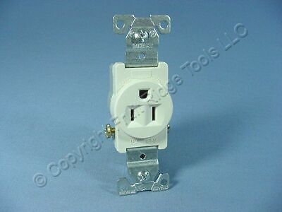 Cooper Light Almond COMMERCIAL Straight Blade Single Receptacle 5-15R 15A 817LA