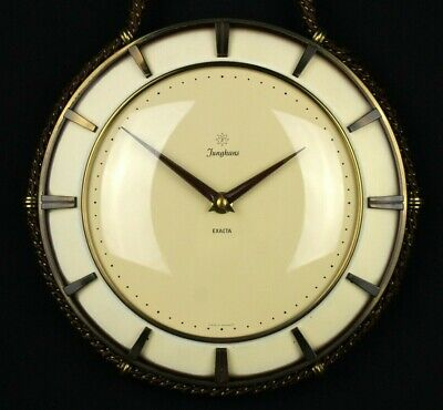 JUNGHANS EXACTA Vintage GERMAN Mechanical Wall Clock Hand Manual Winding